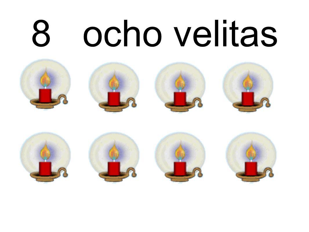 8 ocho velitas