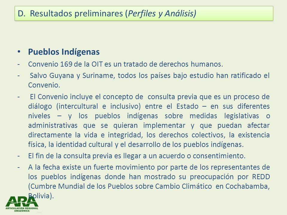 Pueblos Indígenas -Convenio 169 de la OIT es un tratado de derechos humanos. - Salvo Guyana y Suriname, todos los países bajo estudio han ratificado e