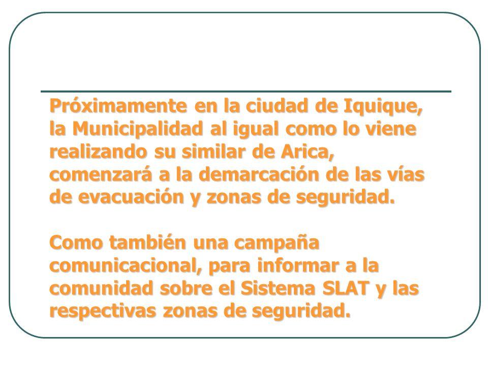 Próximamente en la ciudad de Iquique, la Municipalidad al igual como lo viene realizando su similar de Arica, comenzará a la demarcación de las vías d