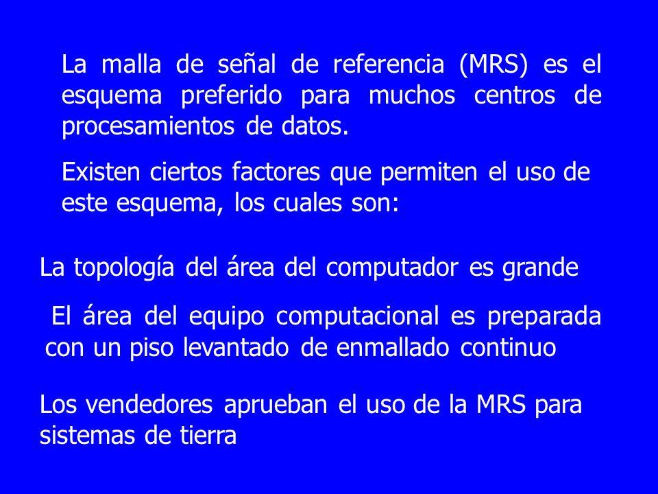 La malla de señal de referencia (MRS) es el esquema preferido para muchos centros de procesamientos de datos. Existen ciertos factores que permiten el