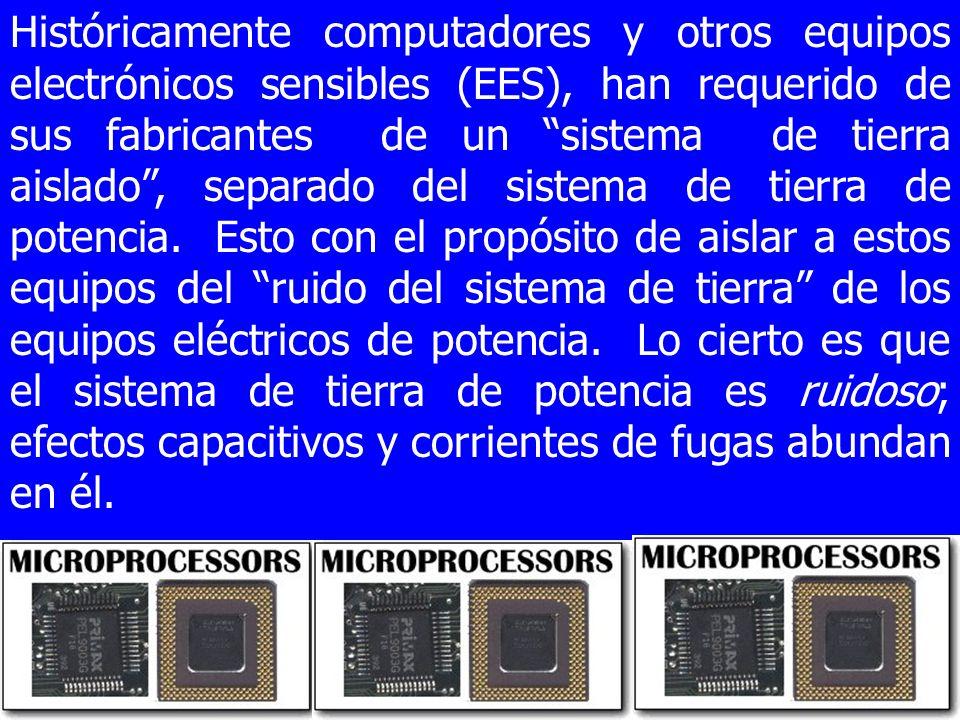 Históricamente computadores y otros equipos electrónicos sensibles (EES), han requerido de sus fabricantes de un sistema de tierra aislado, separado d