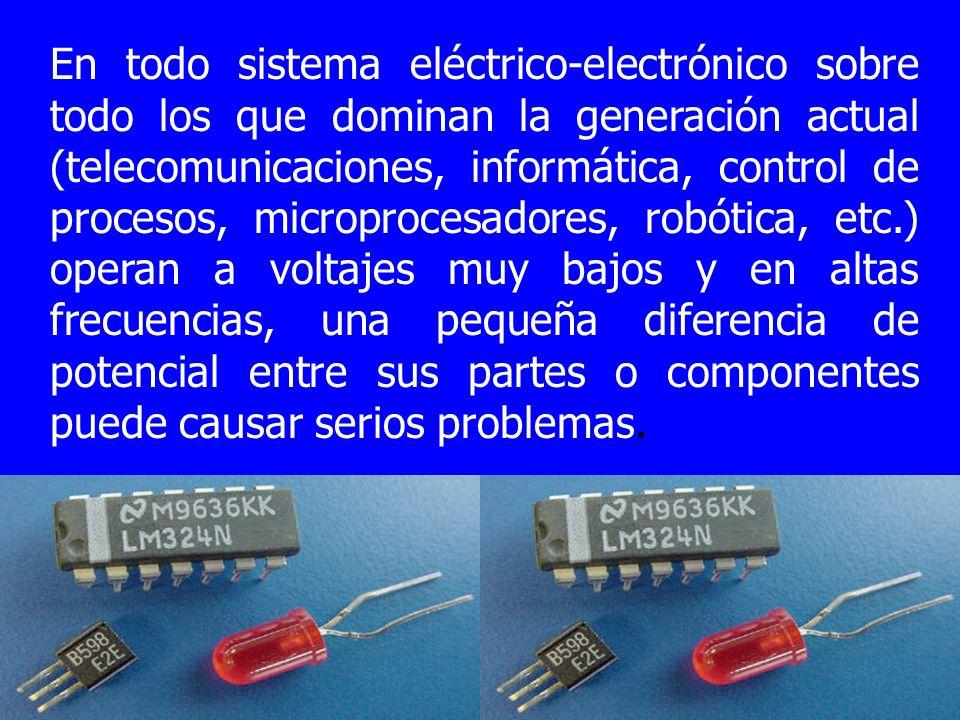 En todo sistema eléctrico-electrónico sobre todo los que dominan la generación actual (telecomunicaciones, informática, control de procesos, microproc