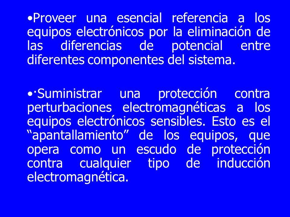 Proveer una esencial referencia a los equipos electrónicos por la eliminación de las diferencias de potencial entre diferentes componentes del sistema