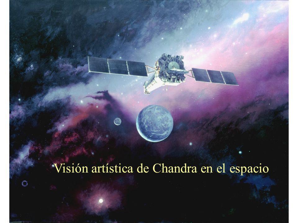 Visión artística de Chandra en el espacio