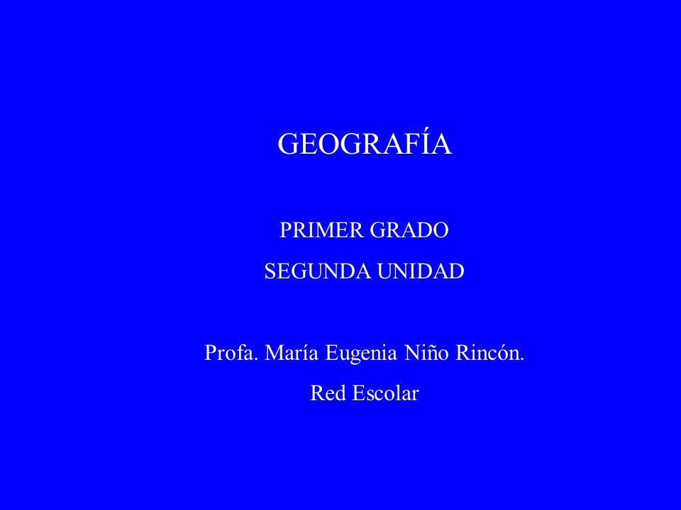 GEOGRAFÍA PRIMER GRADO SEGUNDA UNIDAD Profa. María Eugenia Niño Rincón. Red Escolar