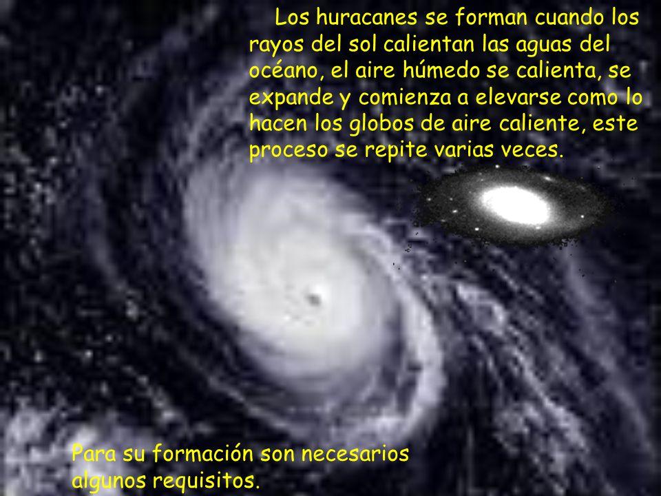 Los huracanes se clasifican de acuerdo a la fuerza de sus vientos.