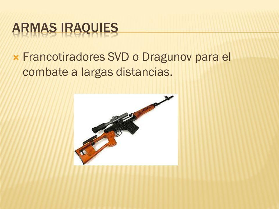 Francotiradores SVD o Dragunov para el combate a largas distancias.