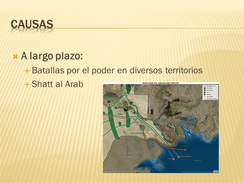 A largo plazo: Batallas por el poder en diversos territorios Shatt al Arab