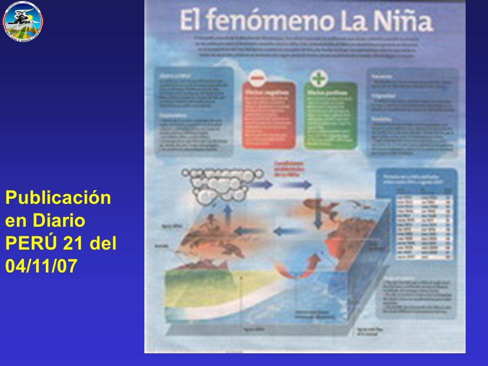 Publicación en Diario PERÚ 21 del 04/11/07