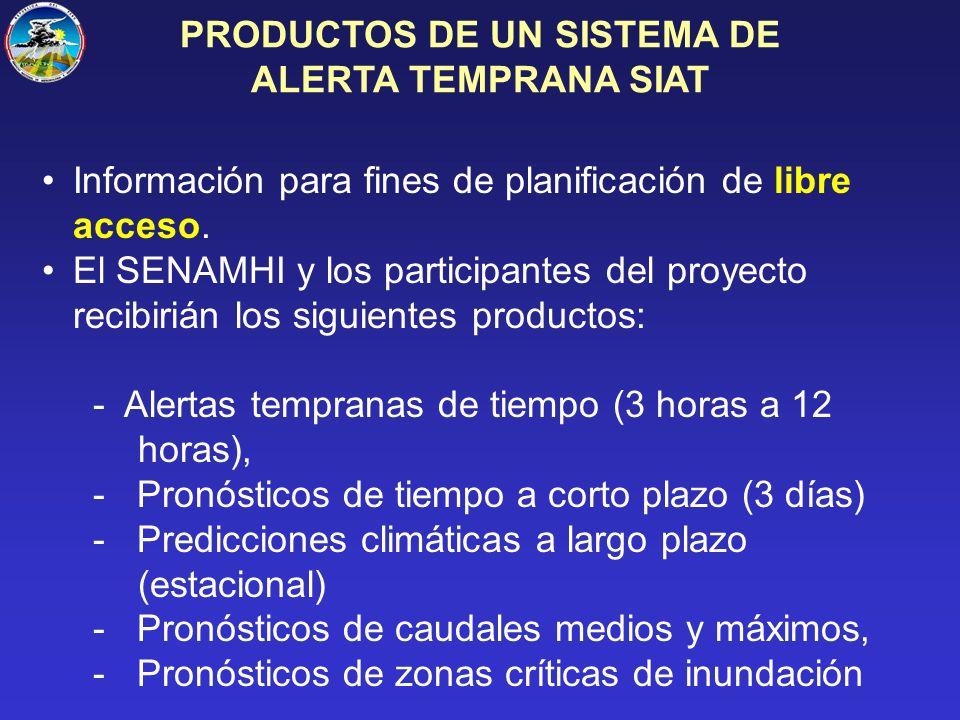 Información para fines de planificación de libre acceso.