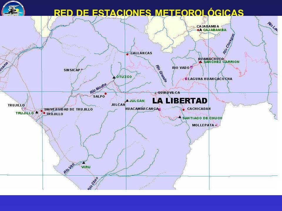 RED DE ESTACIONES METEOROLÓGICAS EN LA LIBERTAD
