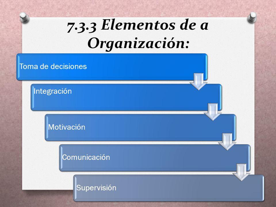 7.3.2 Principios de dirección O Coordinación de intereses: El logro del fin común se hará más fácil cuanto mejor se logre coordinar los intereses del grupo y aún los individuales de quienes participan en la búsqueda de aquel.