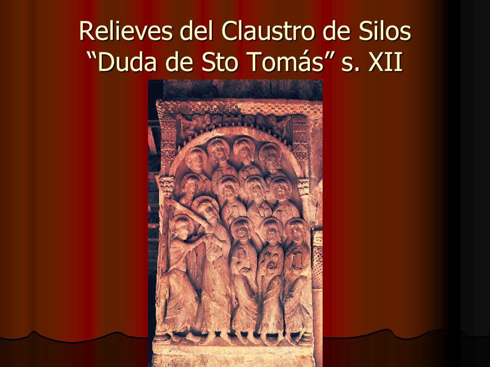 Relieves del Claustro de Silos Duda de Sto Tomás s. XII