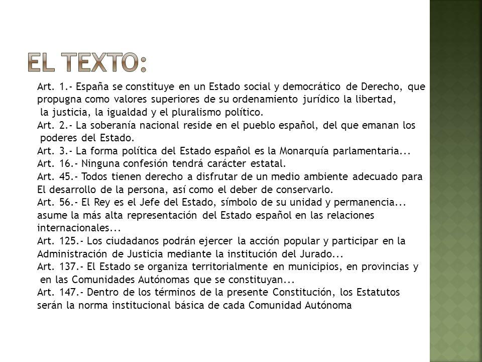 Tipo de texto: Fuente primaria, documento público Naturaleza: texto jurídico-político.