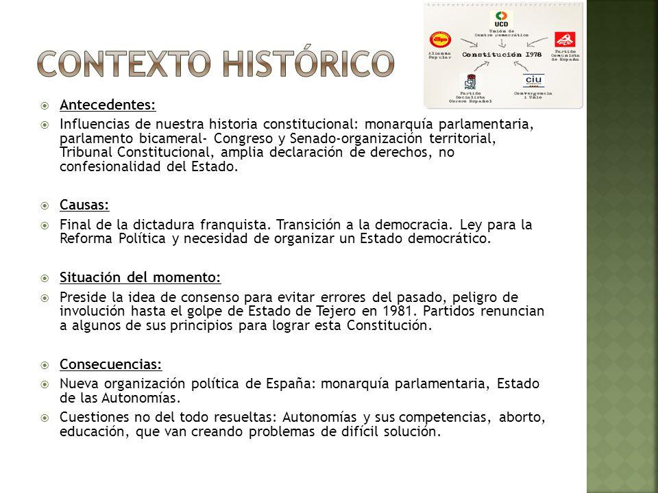 Importancia del documento en su momento: Primera Constitución española que se elabora con el consenso de las diversas fuerzas democráticas.
