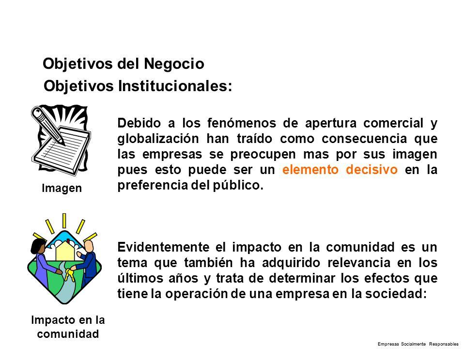 Objetivos del Negocio Imagen Debido a los fenómenos de apertura comercial y globalización han traído como consecuencia que las empresas se preocupen m