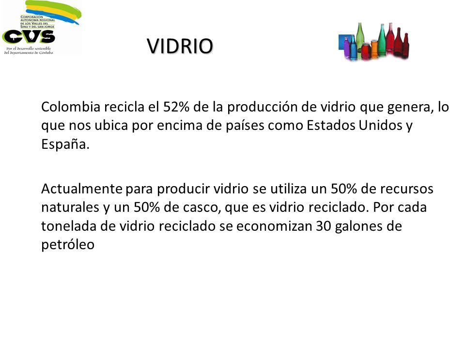 Colombia recicla el 52% de la producción de vidrio que genera, lo que nos ubica por encima de países como Estados Unidos y España. Actualmente para pr