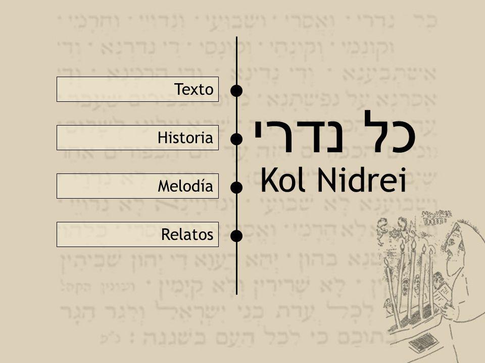כל נדרי Kol Nidrei Texto Historia Melodía Relatos