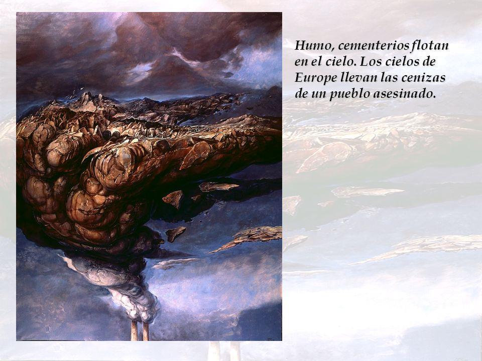 La textura de la pintura intenta evocar la p é trea indiferencia del mundo exterior.