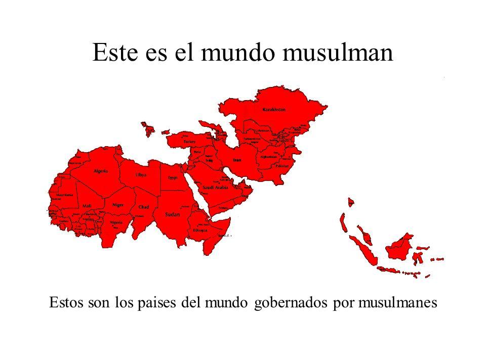 Este es el mundo musulman Hay mas de 1,100 millones de musulmanes en el mundo