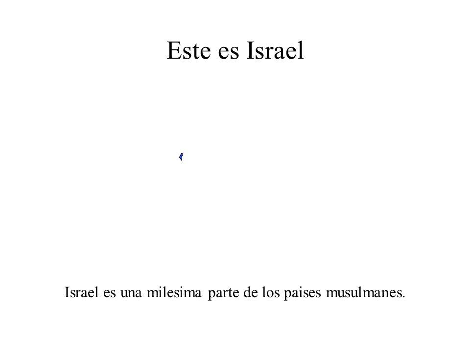 Este es Israel Israel es el unico pais del mundo gobernado por judios