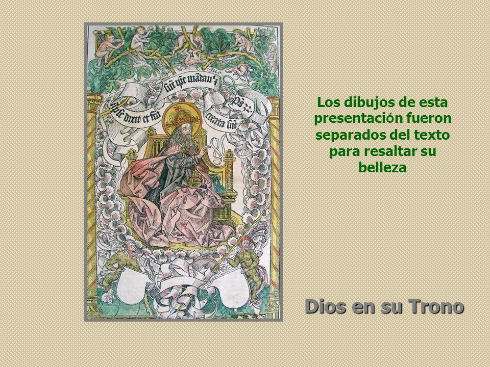 Dios en su Trono Los dibujos de esta presentaci ó n fueron separados del texto para resaltar su belleza