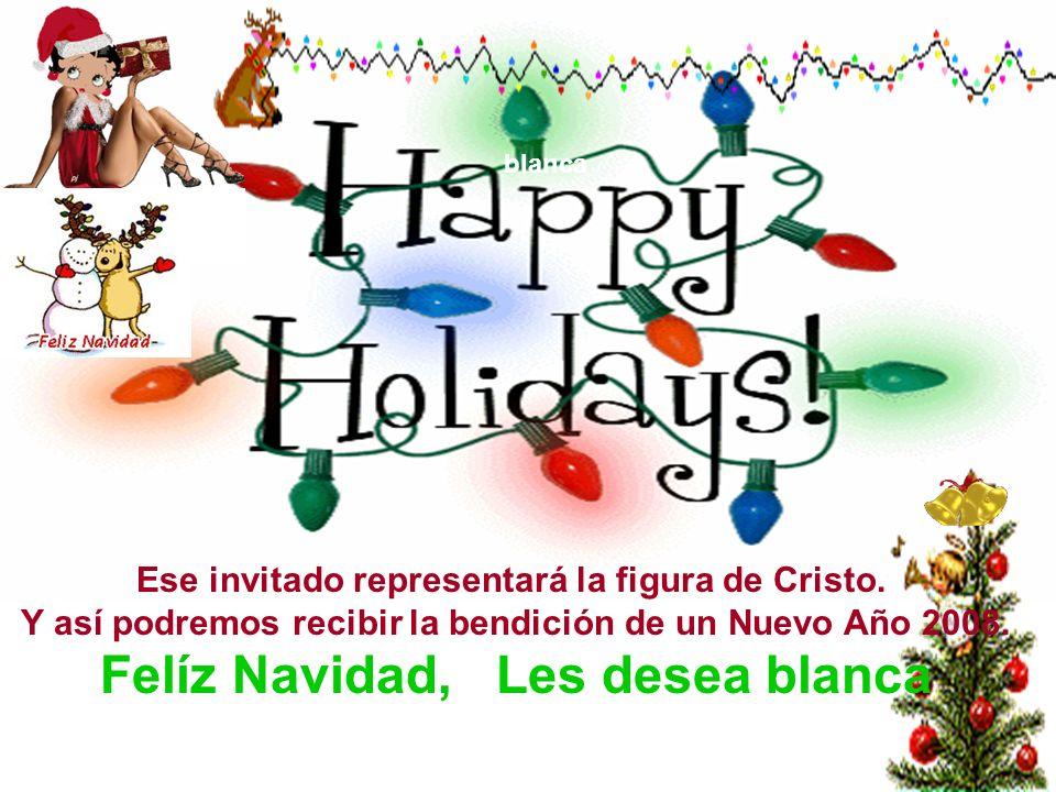 blanca Aprovechemos esta Navidad para perdonar a todos aquellos que nos ofendieron de palabra y de obra. Empecemos el Año Nuevo con el corazón aligera