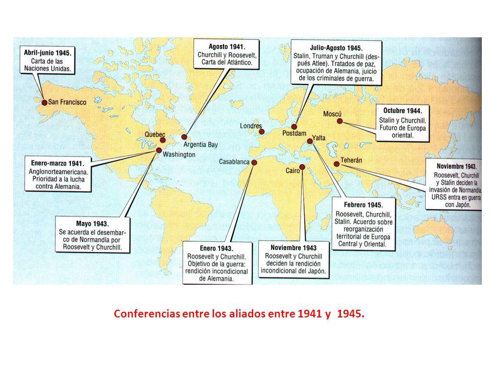 Cambios territoriales en Europa tras la II Guerra Mundial.