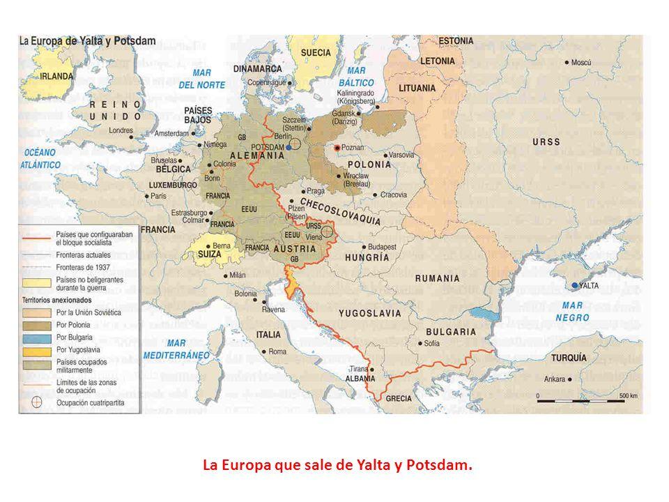La Europa que sale de Yalta y Potsdam.