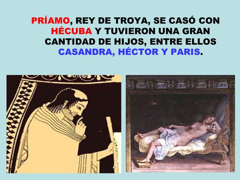 MENELAO, REY DE ESPARTA, PIDE AYUDA A SU HERMANO AGAMENÓN, REY DE MICENAS, PARA RECUPERAR A SU ESPOSA HELENA RAPTADA POR PARIS.