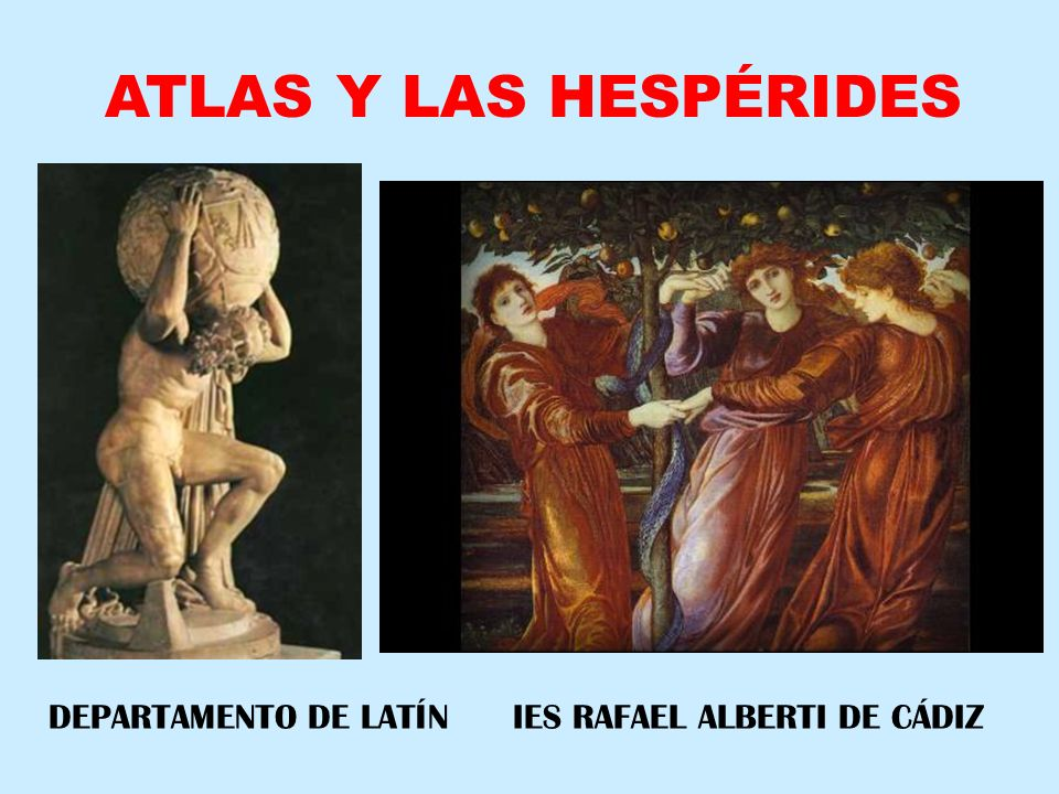 EL TITÁN ATLAS, HERMANO DE PROMETEO, AYUDÓ A CRONO EN SU LUCHA CONTRA ZEUS (TITANOMAQUIA).
