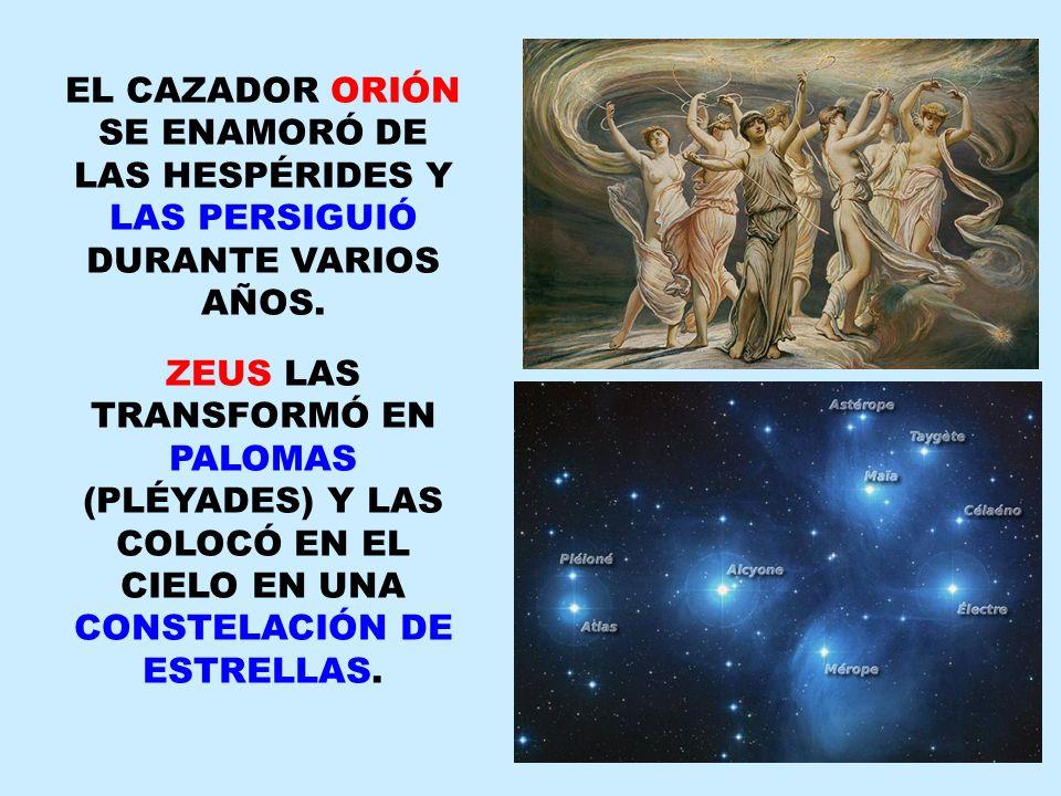 HERACLES, EN UNO DE SUS 12 TRABAJOS, FUE EN BUSCA DE LAS MANZANAS DE ORO.
