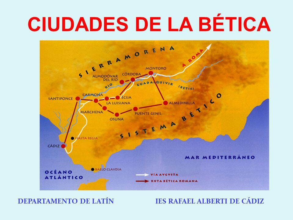 1.GADES (CÁDIZ) LOS FENICIOS FUNDARON GADIR EN EL 1000 A.