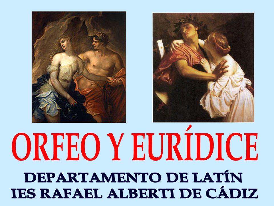 ORFEO, HIJO DE APOLO Y DE CALÍOPE (MUSA DE LA POESÍA ÈPICA), ERA UN POETA Y MÚSICO FAMOSO, QUE TOCABA LA LIRA.