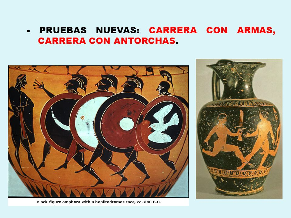 - PRUEBAS NUEVAS: CARRERA CON ARMAS, CARRERA CON ANTORCHAS.