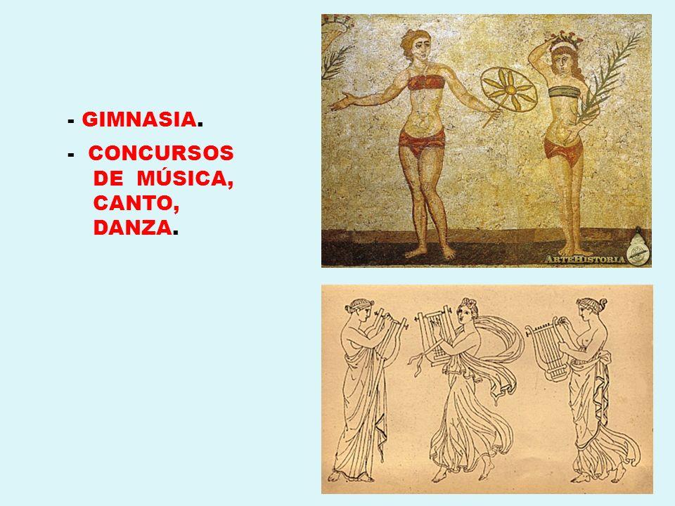- GIMNASIA. - CONCURSOS DE MÚSICA, CANTO, DANZA.