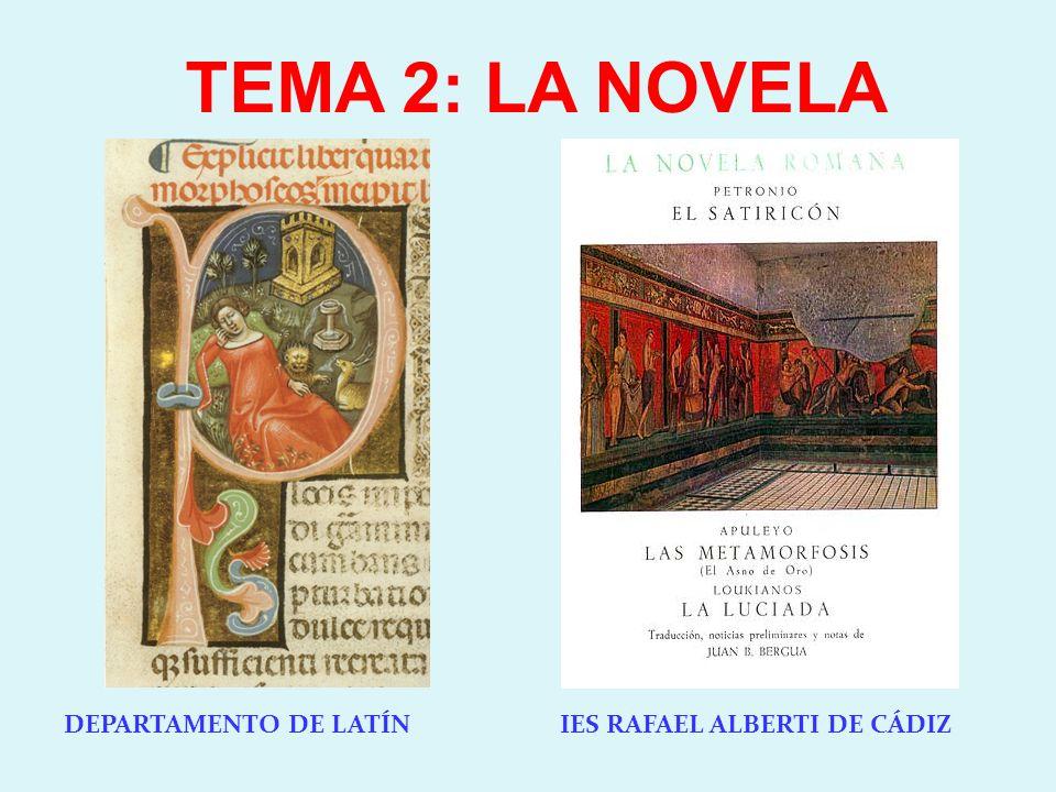 DEPARTAMENTO DE LATÍN IES RAFAEL ALBERTI DE CÁDIZ TEMA 2: LA NOVELA