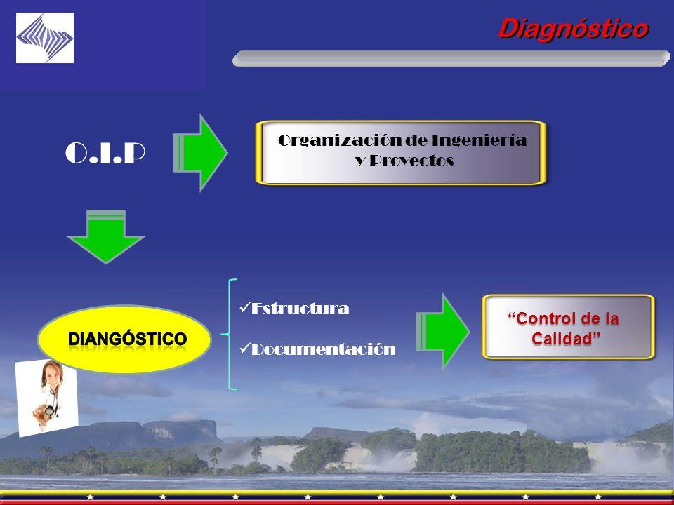 Diagnóstico Organización de Ingeniería y Proyectos O.I.P Estructura Documentación Control de la Calidad Calidad