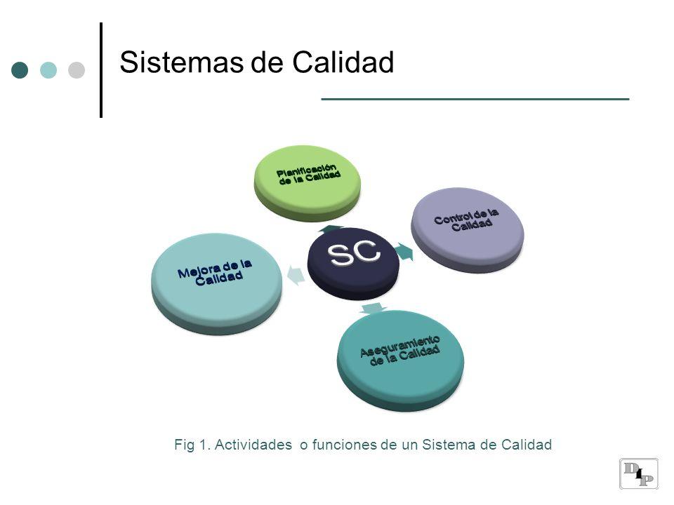 Fig 1. Actividades o funciones de un Sistema de Calidad