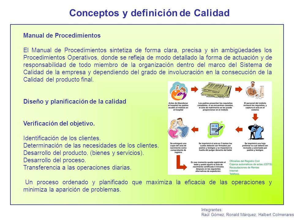 Integrantes: Raúl Gómez, Ronald Márquez, Halbert Colmenares Manual de Procedimientos El Manual de Procedimientos sintetiza de forma clara, precisa y s