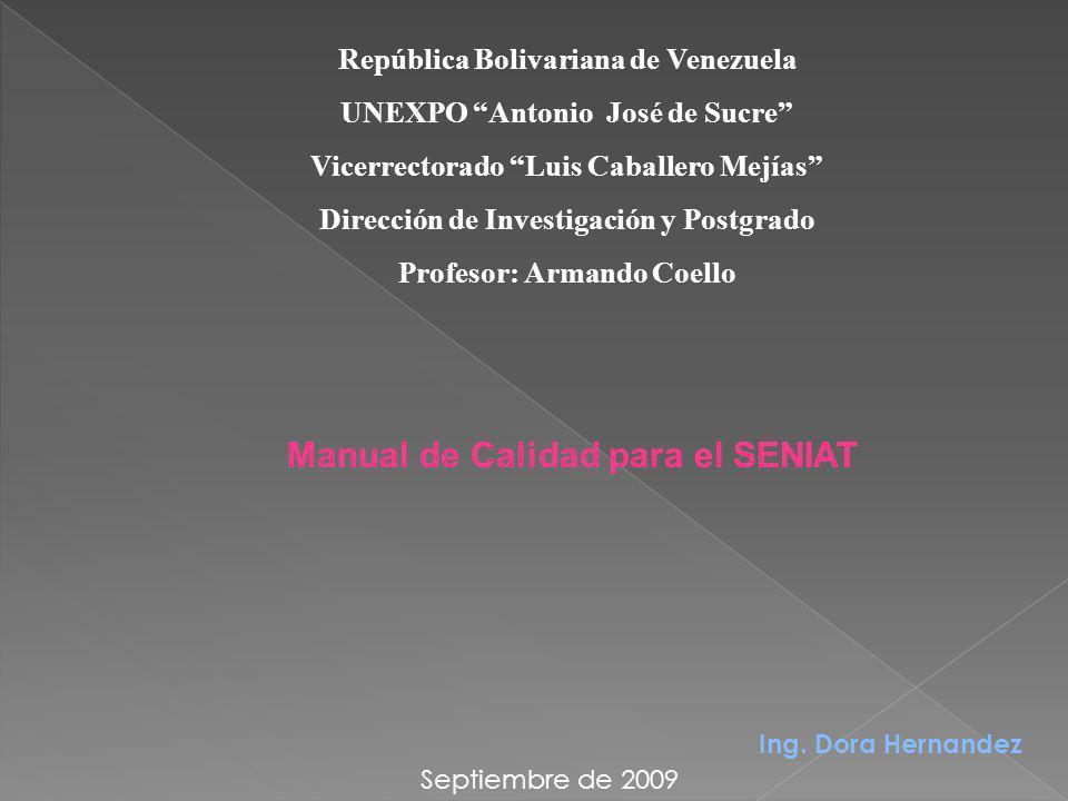 B.- Manual de Calidad.