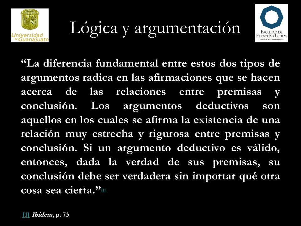 La verdad y la falsedad se predican de proposiciones, nunca de argumentos.