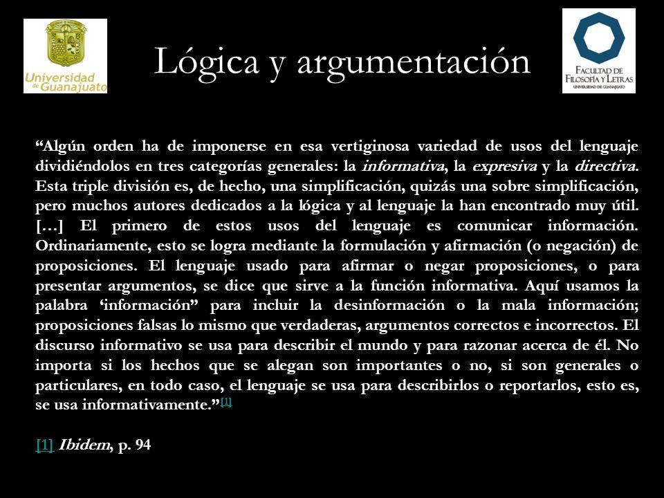 Lógica y argumentación El lenguaje sirve a la función expresiva siempre que se usa para expresar o inducir sentimientos o emociones.