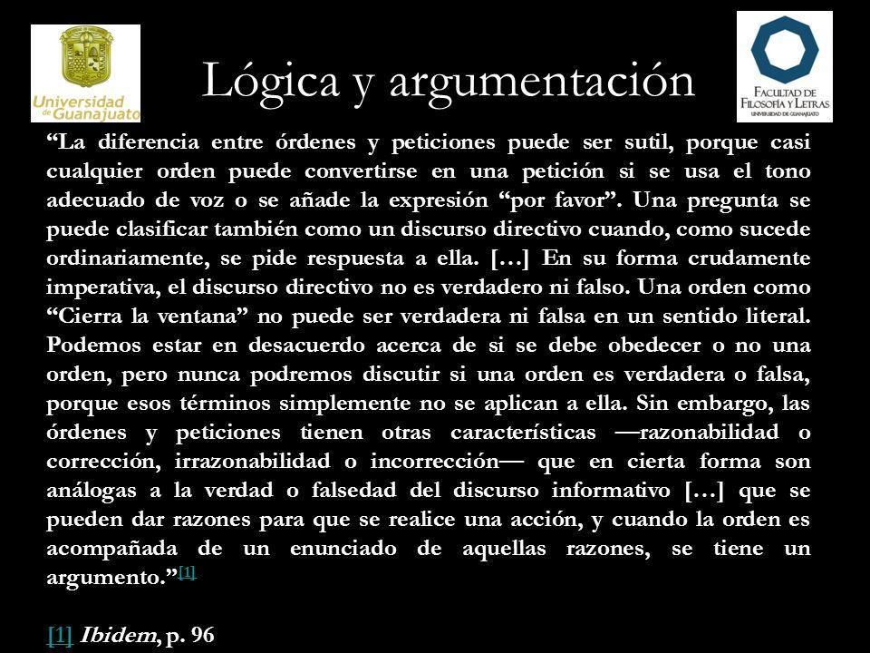 Lógica y argumentación Reglas para la construcción de argumentos