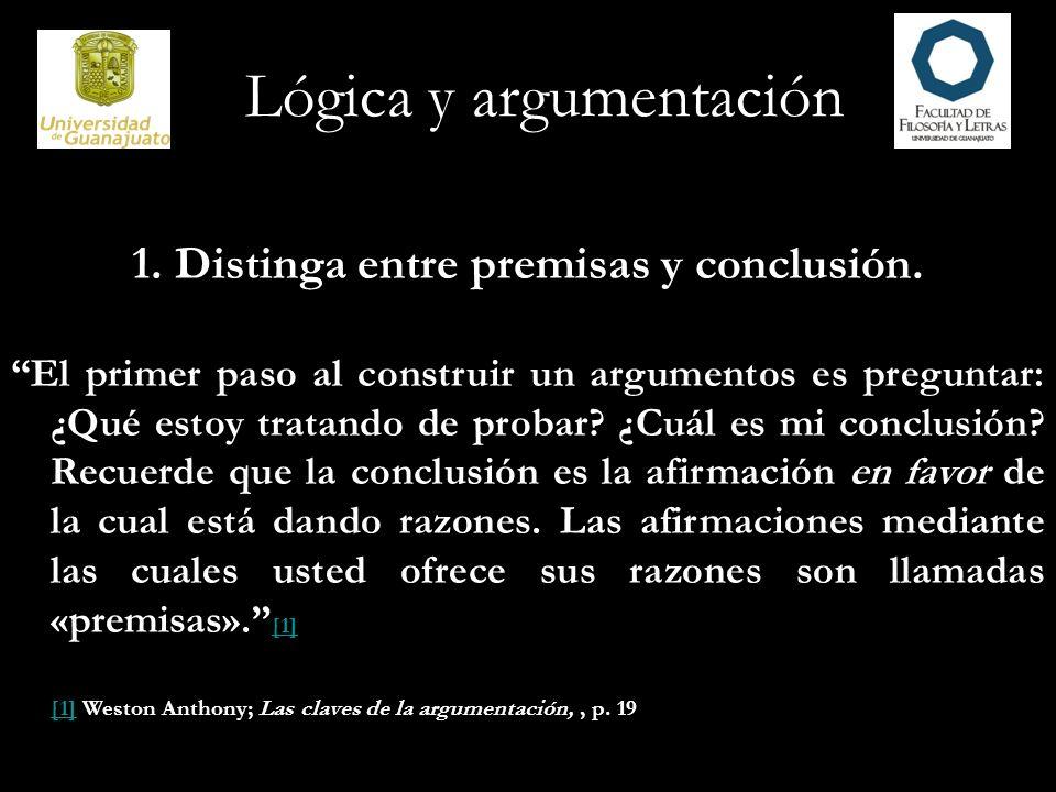 Lógica y argumentación 2.Presente sus ideas en un orden natural.