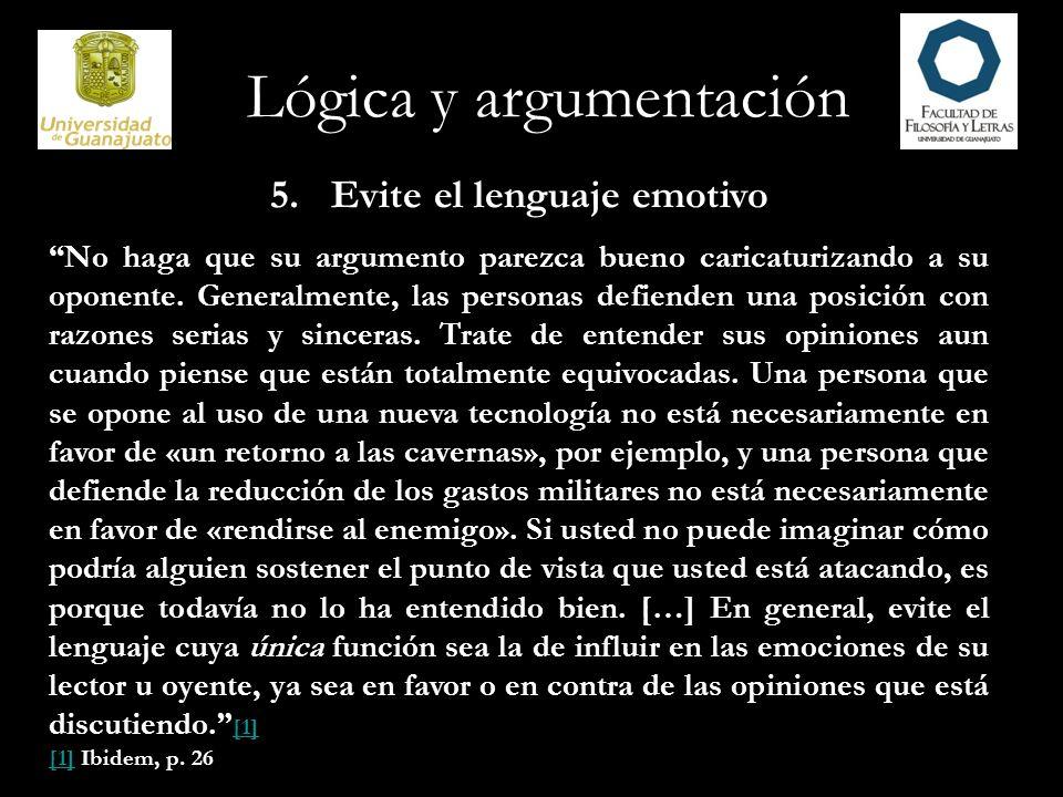 Lógica y argumentación 6.
