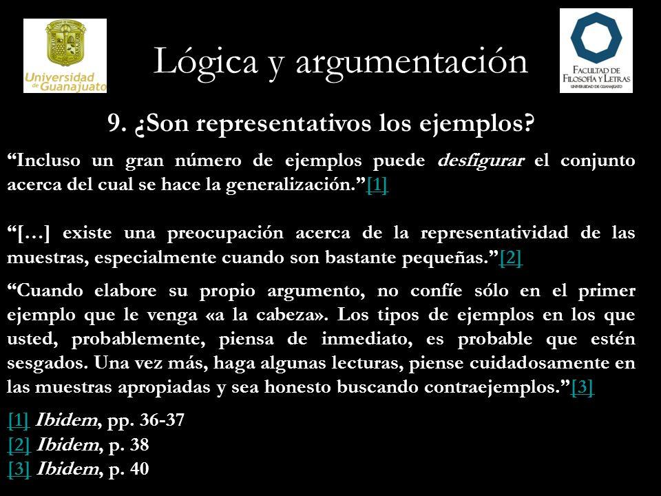 Lógica y argumentación 10.La información de trasfondo es crucial.