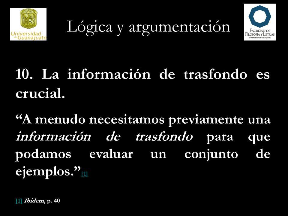 Lógica y argumentación 11.¿Hay contraejemplos.