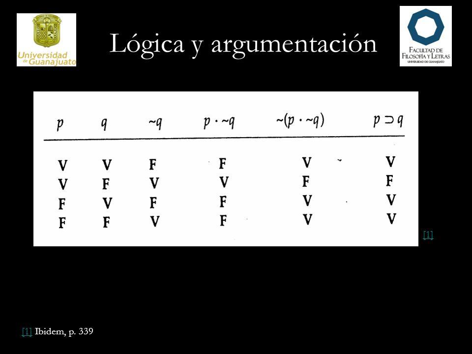 Lógica y argumentación [1][1] Ibidem, p. 339 [1]
