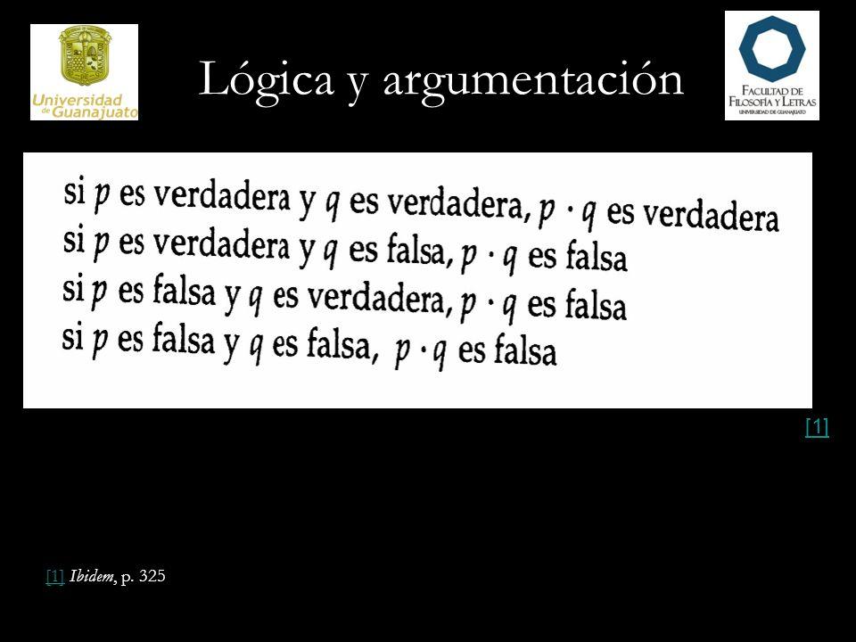 Lógica y argumentación [1][1] Ibidem, p. 325 [1]